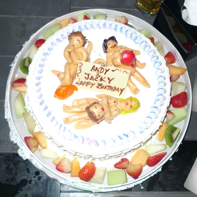 andy & jacky bday cake